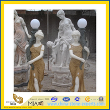 Large Marble Stone Carved Human Garden Sculpture for Outdoor(YQG-LS1036)