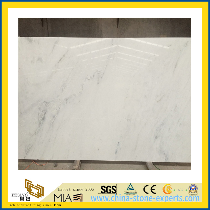 Polished Natural Stone Castro White Marble Slabs for Wall/Flooring (YQC)