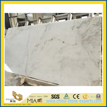 China Polished Castro White Marble Slab for kitchen countertops (YQW)