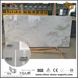 New Polished White Arabescato Venato Marble for Kitchen Floor Tiles (YQW-MSA072501)