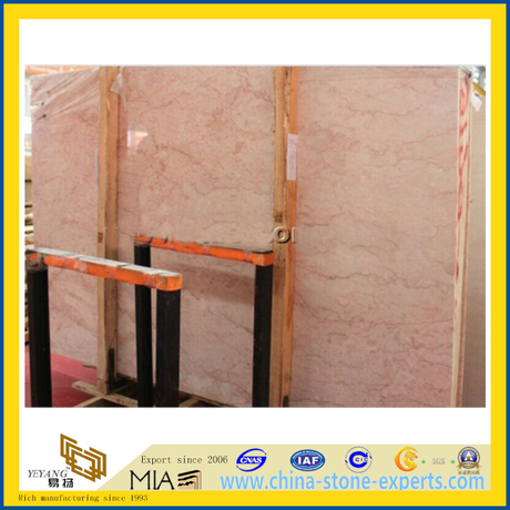 French Rose Pink Marble Slab for Floor and Wall Tiles