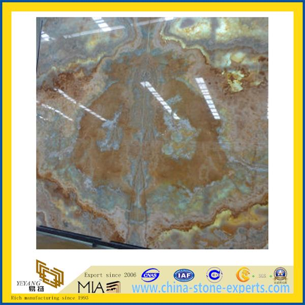 Blue Onyx Marble Slab for Flooring Decoration