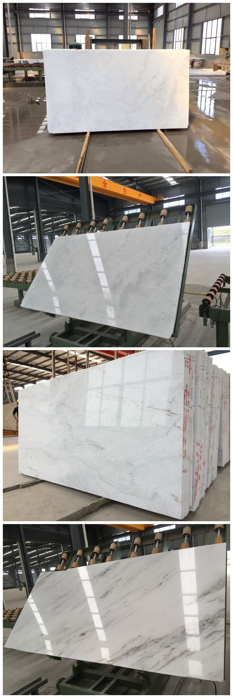 Castro white marble slabs and tiles A