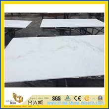 China Polished Castro White Marble Slab for barth vanity tops (YQW)