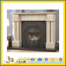 Egypt Beige Marble Carved Fireplace(YQC)