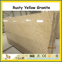Shandong Rusty Yellow Granite Polished Slabs for floor / wall
