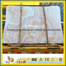 Precut Chinese Red Dragon Onyx Slab as Interior Wall Tile