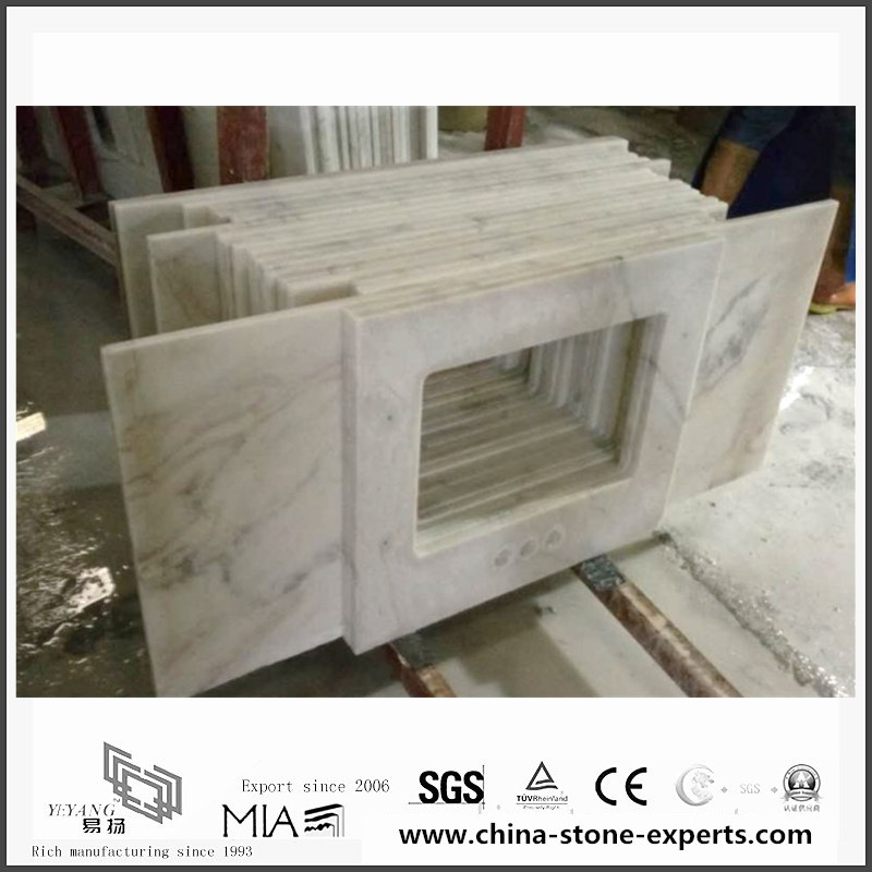 Beautiful Arabescato Venato White Marble Slabs for Bathroom /Kitchen Countertops