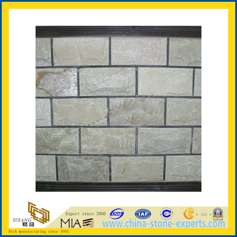 Wood Yellow Quartzite for Wall Clading (YQA-S1075)
