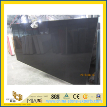Pure Black Artificial Quartz Stone for Kitchen/Bathroom/School Floor Tiles