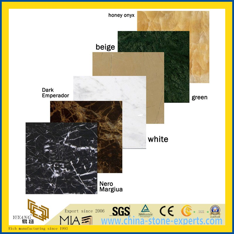 Natural White/Black/Green/Grey Polished Stone Marble for Flooring/Wall Tile