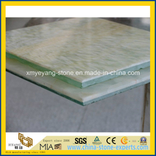 Translucent Green Onyx Glass Composite Panel for Background Wall