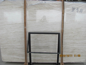 White & Beige Roman Travertine Slab for Floor and Wall Cladding
