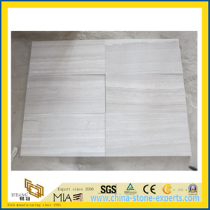 White Wooden Grained Marble Tile for Flooring Decoration