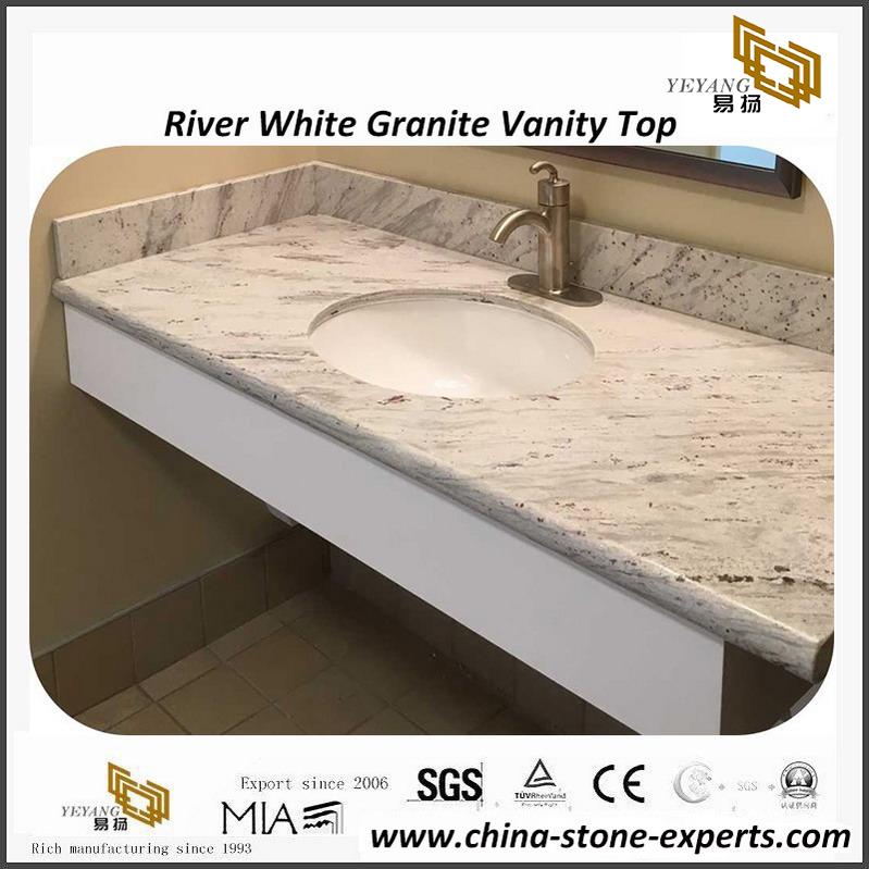 Hot River White Granite Bathroom Vanity Tops