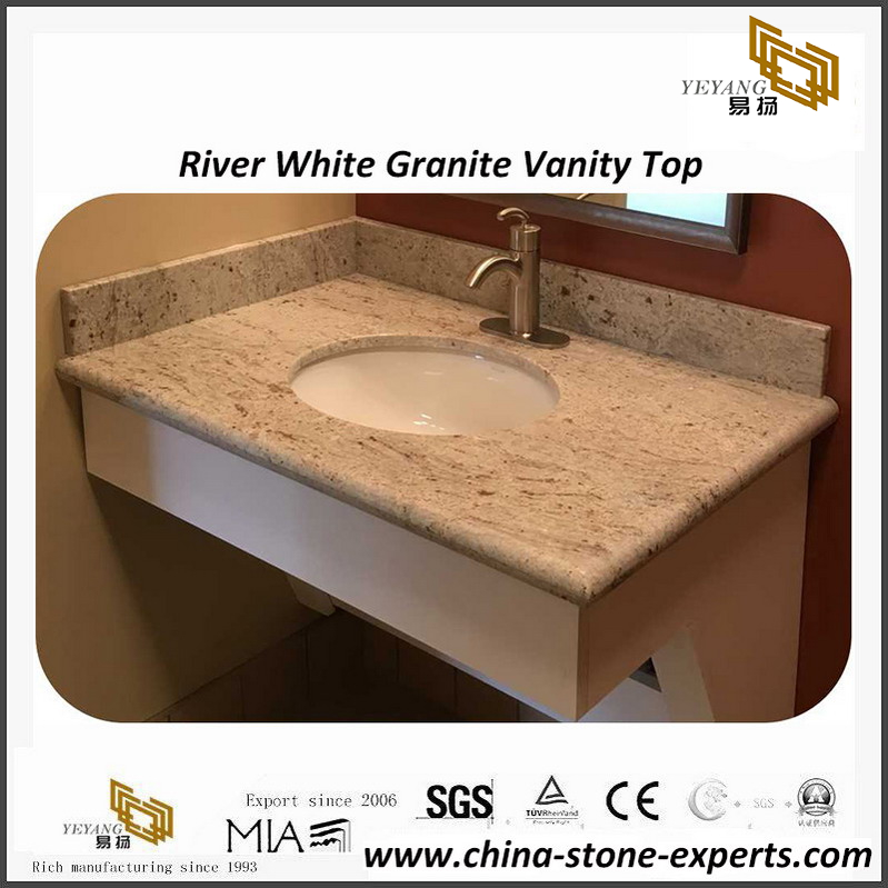 River White Granite Bathroom Vanity Top For Hotel Project
